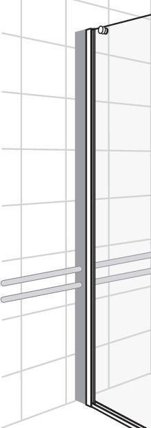 Lisäprofiili Noro Frost DV suihkuseinän putkiston läpiviennille 35 mm