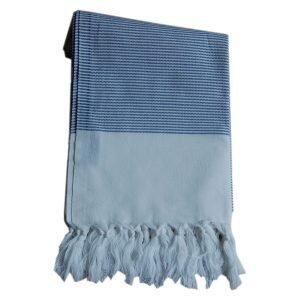 Lou & Friends Stripy Hamam Pyyhe Sininen 180x100 Cm