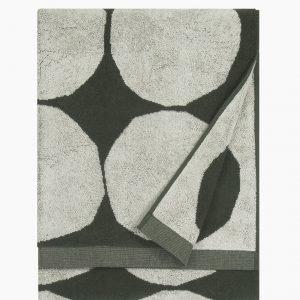 Marimekko Kivet Kylpypyyhe Luonnonvalkoinen Vihreä 70x140 Cm