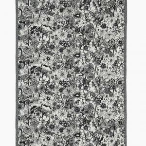 Marimekko Seppelekukat Käsipyyhe Luonnonvalkoinen Musta 47x70 Cm