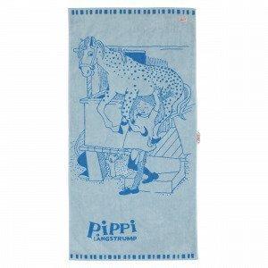 Martinex Pippi Badlakan Kylpypyyhe Sininen 70x140 Cm
