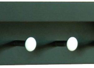 Naulakkohylly Tammiholma T-Lux 42x10x10 cm musta