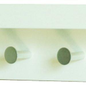 Naulakkohylly Tammiholma T-Lux 42x10x10 cm valkoinen