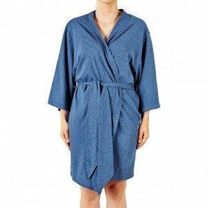 Navy Stories Melange Kimono Aamutakki Mariininsininen