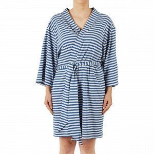 Navy Stories Stripe Kimono Aamutakki Mariininsininen