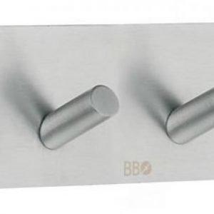 Nelikoukku Smedbo B 1094 tarrakiinnitteinen harjattu