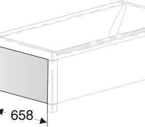 Päätylevy IDO Seven D Image 1600/1700 kylpyammeelle valkoinen
