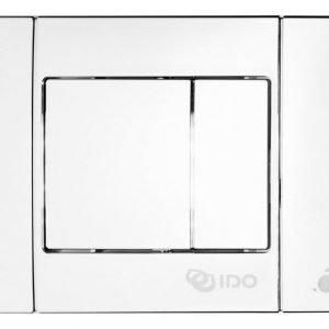 Painonappi IDO 69083 pieni valkoinen neliönapit