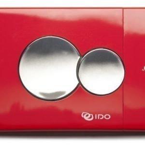 Painonappi IDO pieni 69084 kiiltävä punainen pyöreät napit