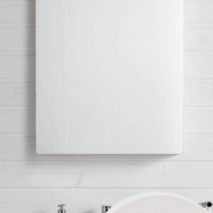 Peili Hafa Sun 600 LED-valaistuksella valkoinen tammivaneri