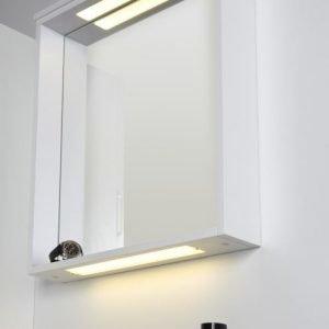 Peili Noro Seaside 600 LED-valaisimella ylä/ala kehys valkoinen matta