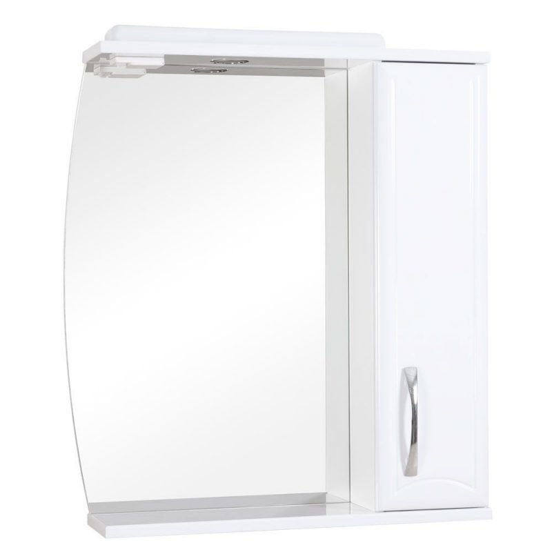 Peilikaappi Aquarodos Decor valkoinen valaisimella 700x170x795mm