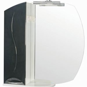 Peilikaappi Aquarodos Premium musta/valkoinen LED 755x170x820mm