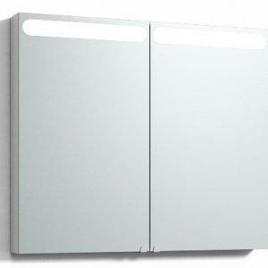 Peilikaappi D-Light 100 ala- ja ylävalaistuksella valkoinen