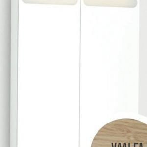 Peilikaappi D-Light 60 ala- ja ylävalaistuksella vaalea tammi