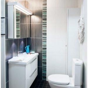 Peilikaappi Ecolight yleisvalolla 2-os pistorasialla ledipesuallasvalolla lev. 105-120 cm syv. 14