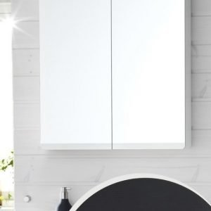 Peilikaappi Hafa Sun 600 LED-valaistuksella musta tammivaneri
