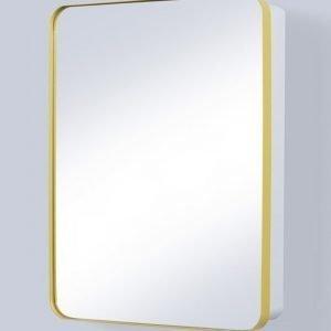 Peilikaappi Holger 45x60x12 cm metalli keltainen/runko valkoinen