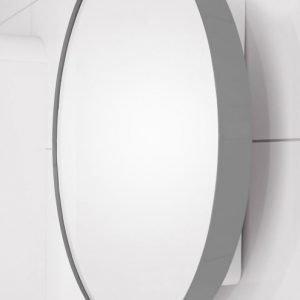 Peilikaappi Jenny Ø 60 cm metalli graftiitinharmaa/runko valkoinen