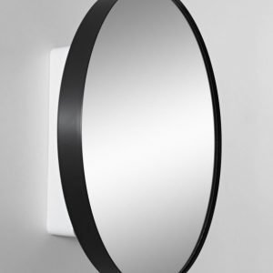 Peilikaappi Jenny Ø 60 cm metalli musta/runko valkoinen