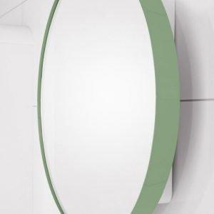 Peilikaappi Jenny Ø 60 cm metalli utuvihreä/runko valkoinen