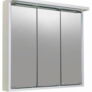 Peilikaappi Noro Alva 750 valkoinen matta valaistuksella ja pistorasialla