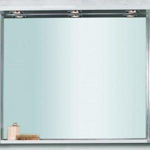 Peilikaappi Noro Newport 1050x200x720 mm valkoinen matta LED-valaistuksella