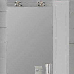 Peilikaappi Noro Newport 600x200x720 mm oikea valkoinen matta LED-valaistuksella