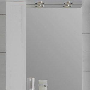 Peilikaappi Noro Newport 600x200x720 mm vasen valkoinen matta LED-valaistuksella