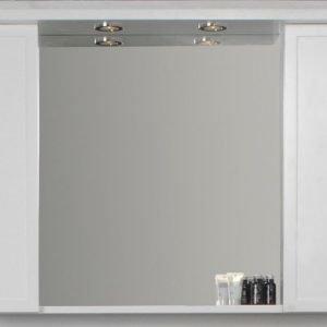 Peilikaappi Noro Newport 900x200x720 mm valkoinen matta LED-valaistuksella