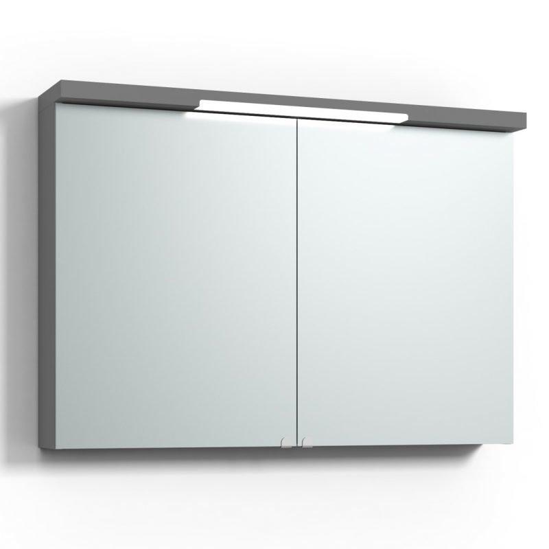 Peilikaappi Svedbergs Top-Line 100 LED ala- ja ylävalaistuksella harmaa