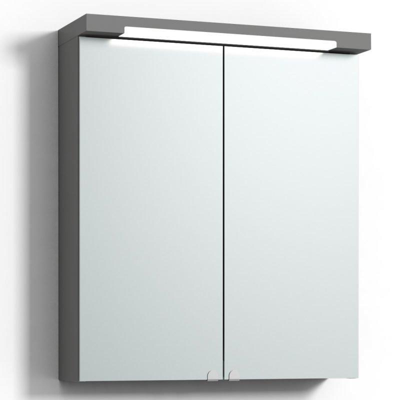 Peilikaappi Svedbergs Top-Line 60 LED ala- ja ylävalaistuksella harmaa
