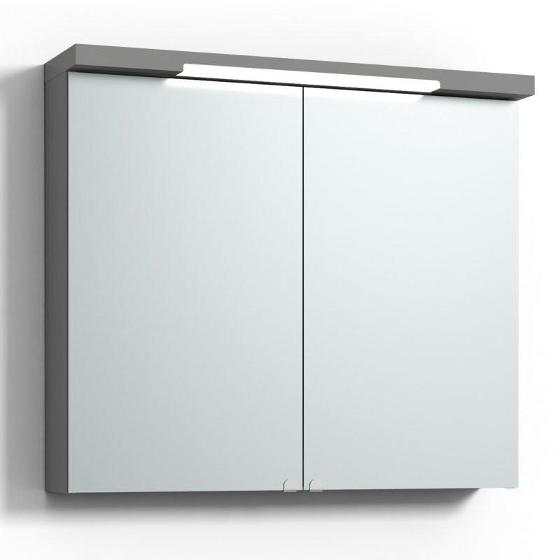 Peilikaappi Svedbergs Top-Line 80 LED ala- ja ylävalaistuksella harmaa