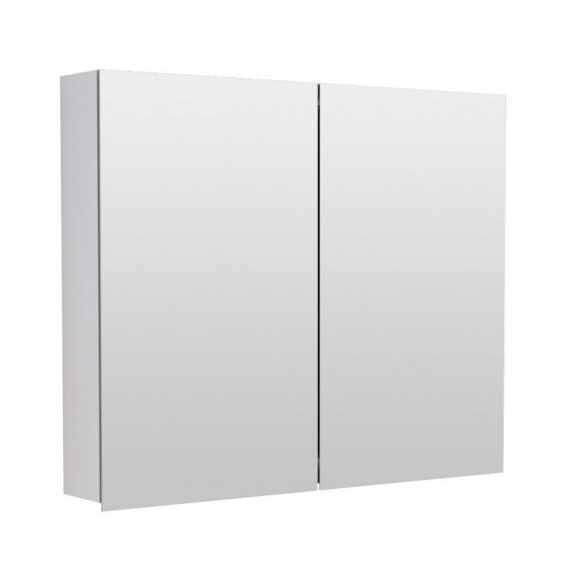 Peilikaappi Temal piilosaranoilla ilman ledilippaa kahdella ovella eri värejä