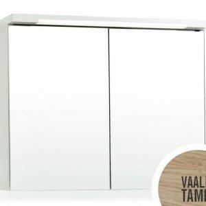 Peilikaappi Top-Line 100 LED ala- ja ylävalaistuksella vaalea tammi