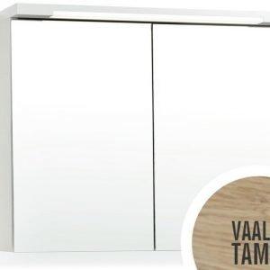 Peilikaappi Top-Line 100 ala- ja ylävalaistuksella vaalea tammi