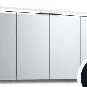 Peilikaappi Top-Line 140 LED ala- ja ylävalaistuksella musta tammi