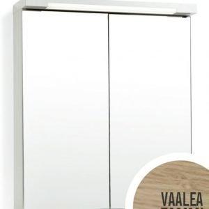 Peilikaappi Top-Line 60 LED ala- ja ylävalaistuksella vaalea tammi