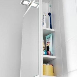 Peilisäilytin Hafa One 440 LED-valaistus + pistorasia valkoinen matta