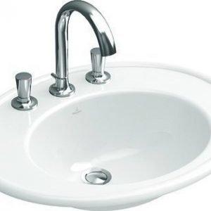 Pesuallas Ceramicplus-pinnoitteella Villeroy & Boch Amadea 6198 635x525 mm Valkoinen Alpin