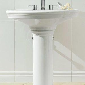 Pesuallas Ceramicplus-pinnoitteella Villeroy & Boch Amadea 7185 760x570 mm Valkoinen Alpin + jalka