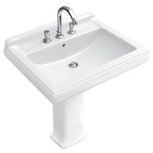 Pesuallas Ceramicplus-pinnoitteella Villeroy & Boch Hommage 7101 650x530 mm Valkoinen Alpin