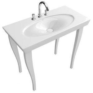 Pesuallas Ceramicplus-pinnoitteella Villeroy & Boch La Belle 6124 1000x490 mm Valkoinen Alpin + jalat