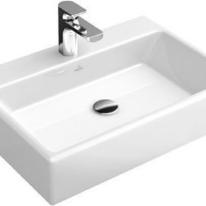 Pesuallas Ceramicplus-pinnoitteella Villeroy & Boch Memento 5135 500x420 mm Valkoinen Alpin