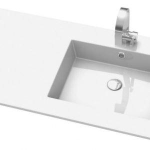 Pesuallas Otsoson Meri 902x485x15 mm oikea valkoinen