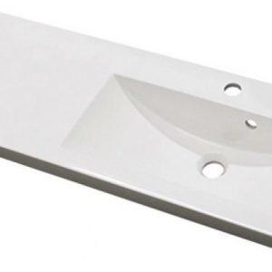 Pesuallas Otsoson Miniclever 900 R 902x310x40 allas oikealla valkoinen