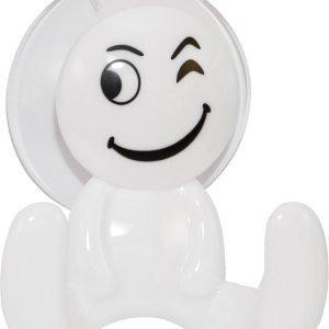 Pisla Smiley Imukuppikoukku Valkoinen