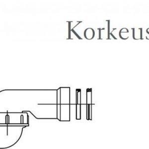 Pohjaventtiili vesilukolla Sanka suihkukaapeille ja -altaille 80 mm