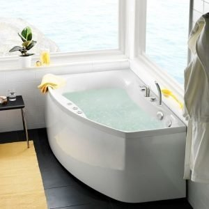 Poreamme Ocean 160 R Comfort akryyli valkoinen