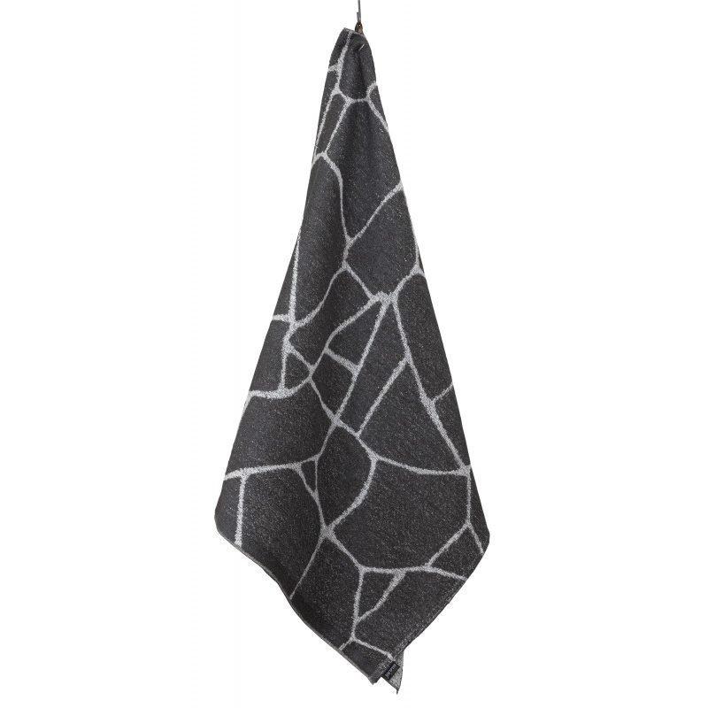 Pyyhe Salasauna 75x150cm harmaa-valkoinen